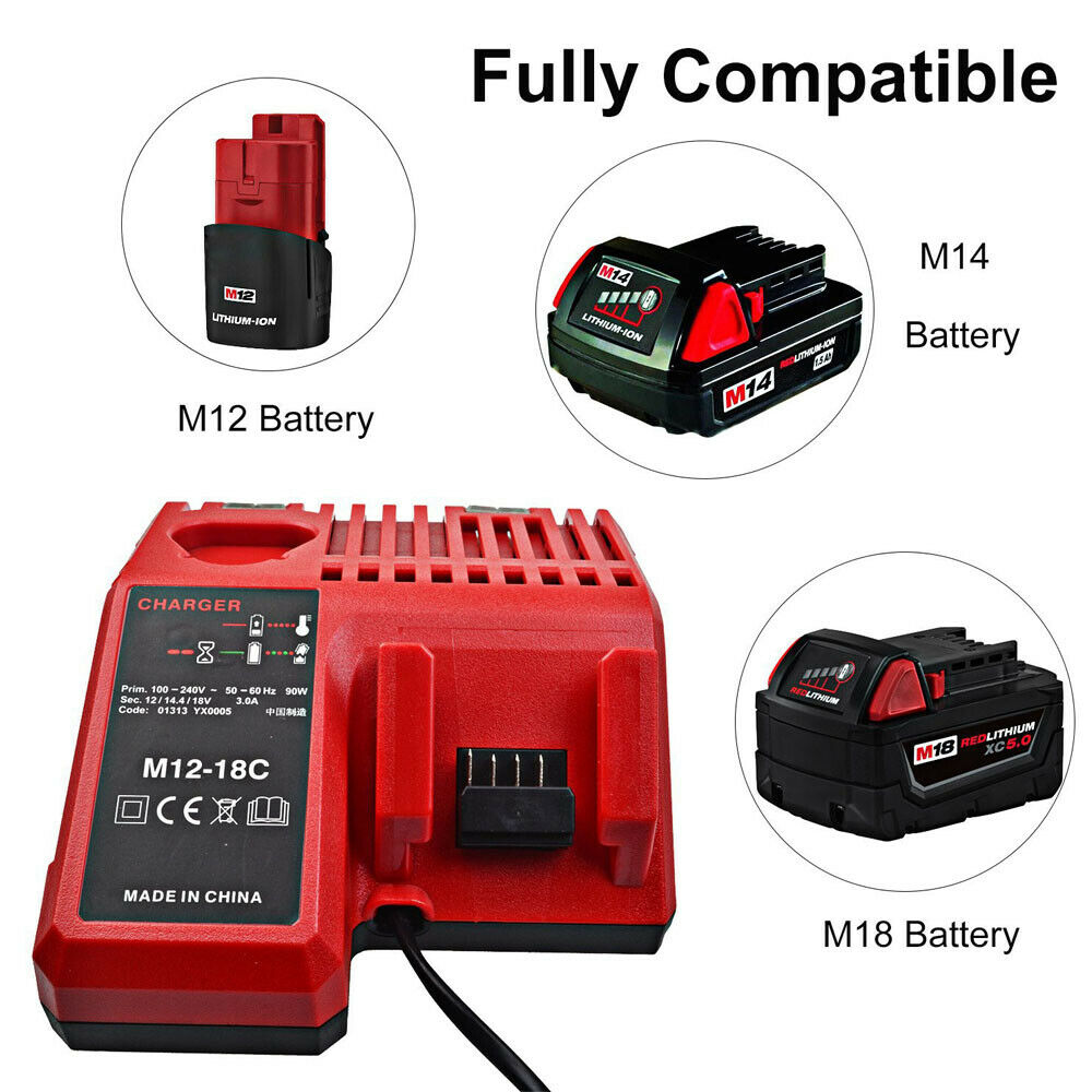 Milwaukee 48-59-1812 Battery Charger M18 Li Ion 18V 18 Volt