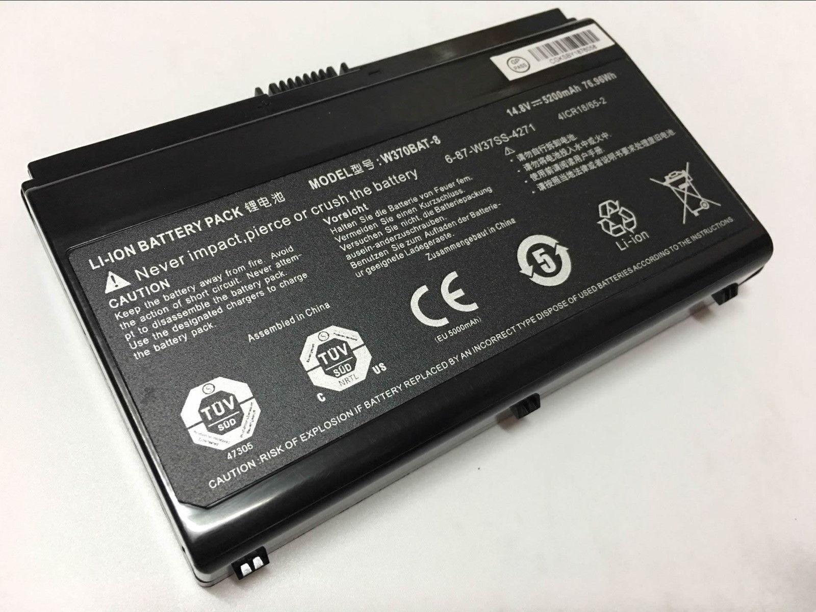 CLEVO W350ET W350ETQ W350SK W350SKQ W350SS W350ST W350STQ kompatybilny bateria
